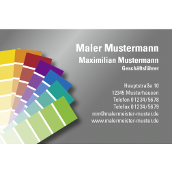 Visitenkarte Farbfächer 1stg. quer