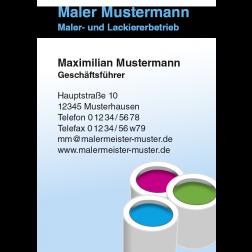 Visitenkarte Farbeimer 1stg. hoch
