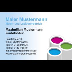 Visitenkarte Farbeimer 1stg. quer