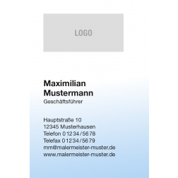 Visitenkarte Logo Verlauf 1stg. hoch