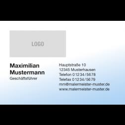 Visitenkarte Logo Verlauf 1stg. quer