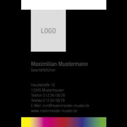 Visitenkarte Logo Verlaufstreifen 1stg. hoch