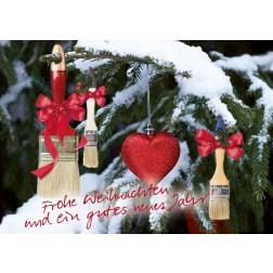 Postkarte Weihnachten & Neujahr - Motiv 1