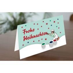 MEGA 02 Weihnachtskarte DINA6 - 4 Seiten